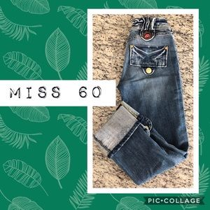 Miss Sixty Cropped Jeans with Chunky Snaps ❤️